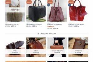 Online WEB ro - Model magazin online realizat, magazin vânzări produse din piele naturală poșete genți curele portofele Foto 1