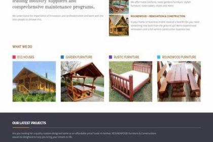 Online WEB ro - Model magazin online simplu realizat, magazin vânzări mobilier din lemn rotund masiv din județul Suceava