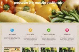 Online WEB ro - Model magazin online realizat, magazin vânzări produse tradiționale