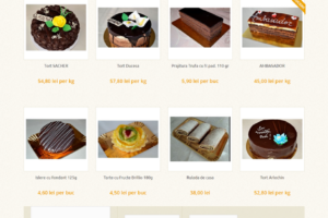 Online WEB ro - Model site magazin online, site prezentare cofetărie patiserie dulciuri Foto 1