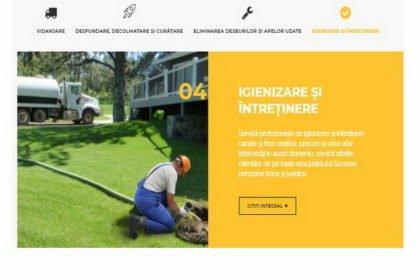 Online WEB ro - Model magazin online realizat, magazin vânzări servicii vidanjare curățare