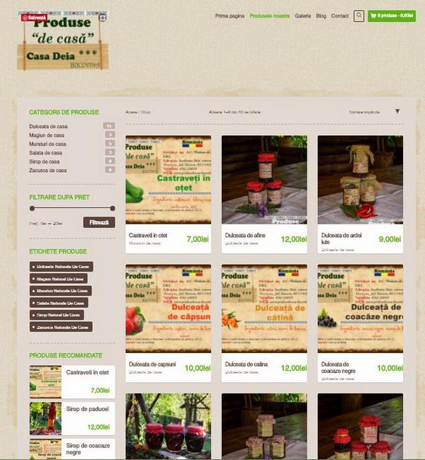 Online WEB ro - Model magazin online realizat, magazin vânzări produse tradiționale Foto 1