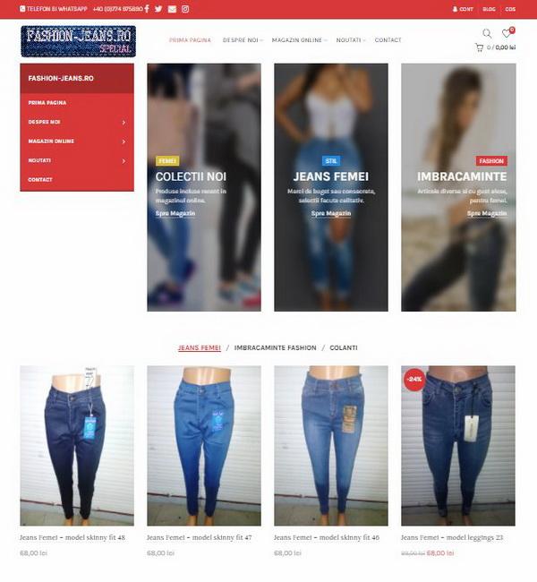 Online WEB ro - Model magazin online realizat, magazin vânzări fashion jeans femei Foto 1