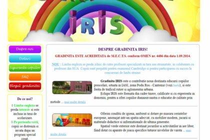 Online WEB ro - Model site prezentare realizat, site prezentare grădiniță particulară educație învățământ Foto 1
