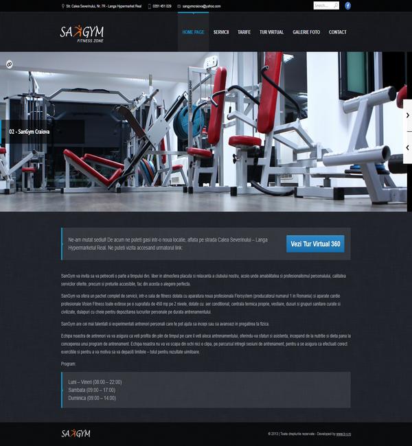Online WEB ro - Model site prezentare realizat, site prezentare sală fitness body building cardio zumba tae-bo Foto 2