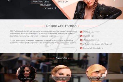 Online WEB ro - Model site prezentare realizat, site prezentare salon de frumusețe coafor frizerie Foto 1