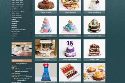 Online WEB ro - Model site prezentare realizat, site prezentare cofetărie patiserie dulciuri Foto 1