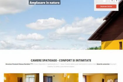 Online WEB ro - Model site de prezentare realizat, site prezentare pensiune turistică din județul Suceava