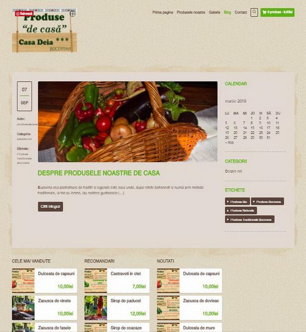 Online WEB ro - Model magazin online realizat, magazin vânzări produse tradiționale Foto 2