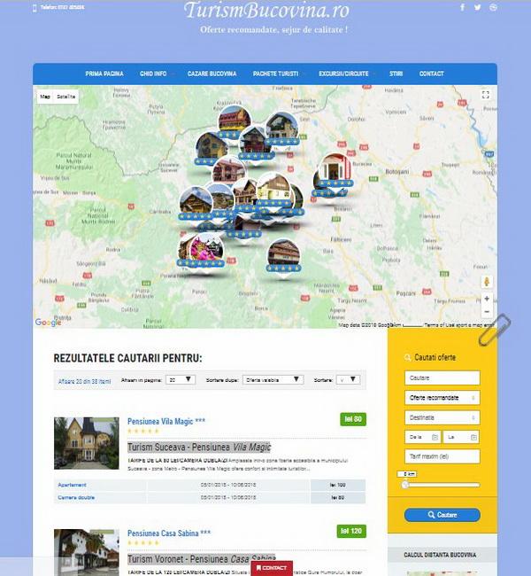 Online WEB ro - Model magazin online realizat, magazin promovare și vânzări servicii turistice oferte Bucovina Foto 1