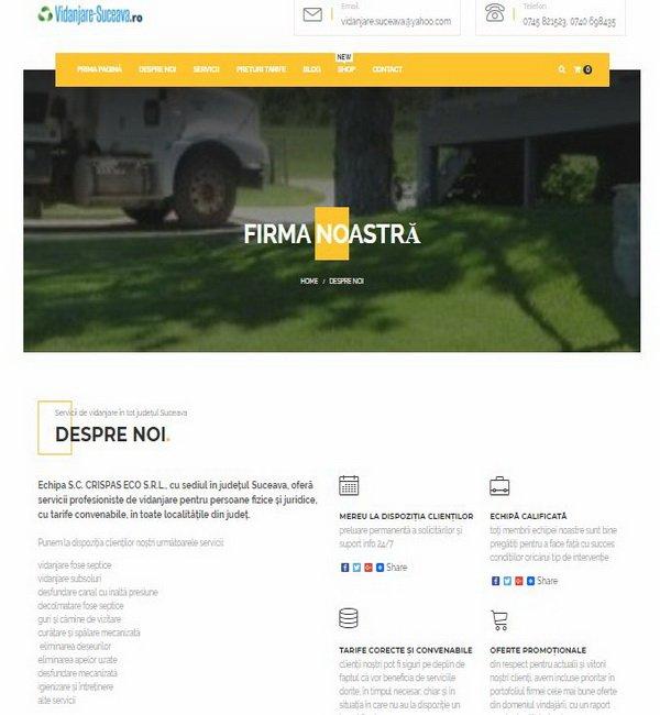 Online WEB ro - Model magazin online realizat, magazin vânzări servicii vidanjare curățare igienizare Foto 3