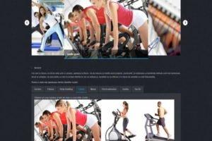 Online WEB ro - Model site prezentare realizat, site prezentare sală fitness body building cardio zumba Foto 1