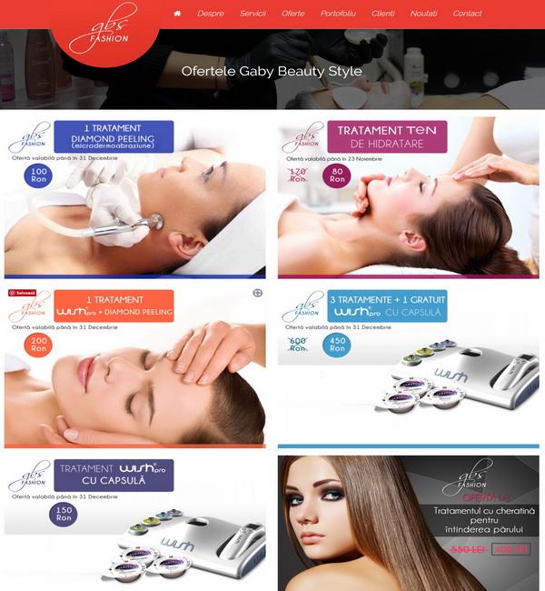 Online WEB ro - Model site prezentare realizat, site prezentare salon de frumusețe coafor frizerie Foto 3