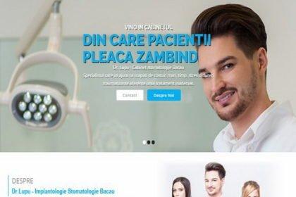 Online WEB ro - Model site prezentare realizat, site prezentare cabinet stomatologic Bacău Foto 1
