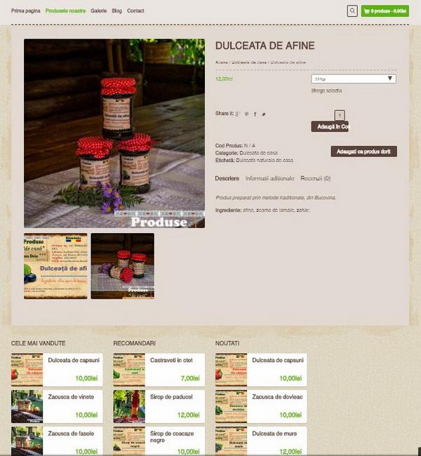 Online WEB ro - Model magazin online realizat, magazin vânzări produse tradiționale Foto 3