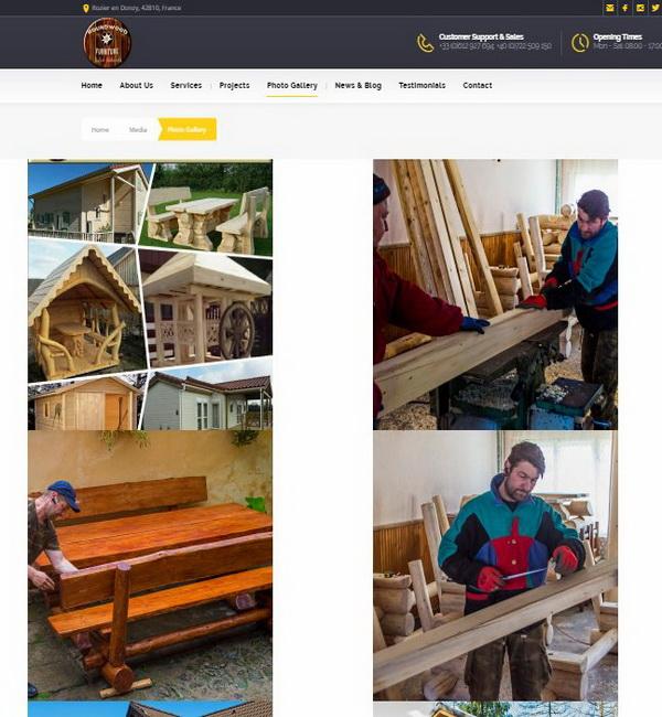 Online WEB ro - Model magazin online realizat, magazin promovare și vânzări mobilier lemn masiv rotund Foto 3