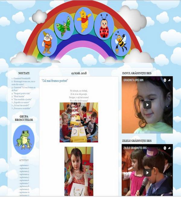 Online WEB ro - Model site prezentare realizat, site prezentare grădiniță particulară educație Foto 3