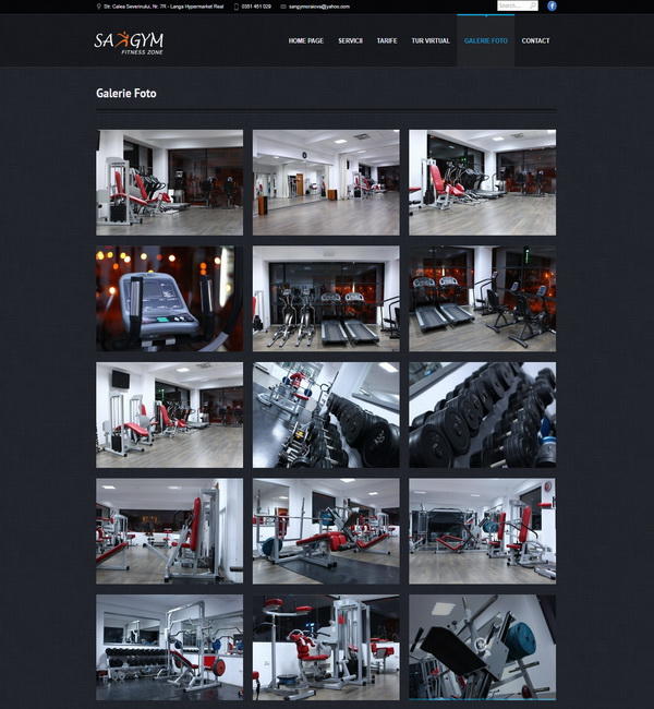 Online WEB ro - Model site prezentare realizat, site prezentare sală fitness body building cardio zumba tae-bo Foto 3