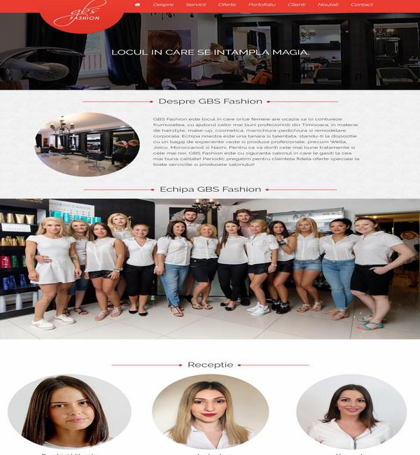 Online WEB ro - Model site prezentare realizat, site prezentare salon de frumusețe coafor frizerie Foto 2