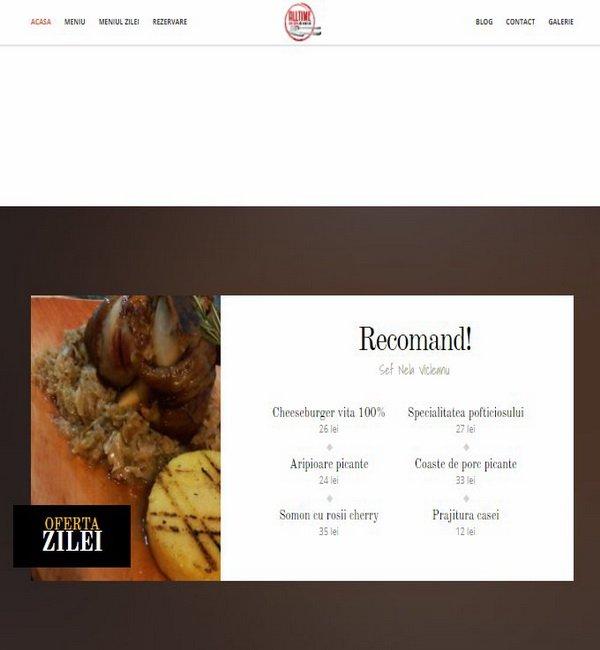 Online WEB ro - Model site prezentare realizat, site prezentare restaurant bar Foto 3