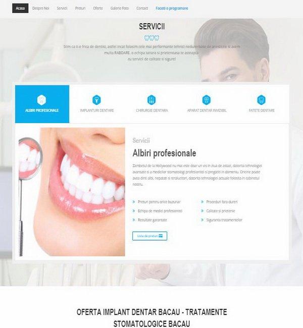 Online WEB ro - Model site prezentare realizat, site prezentare servicii cabinet stomatologic Foto 2
