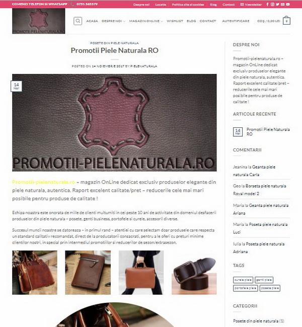 Online WEB ro - Model magazin online realizat, magazin vânzări produse din piele naturală poșete genți portofele Foto 4