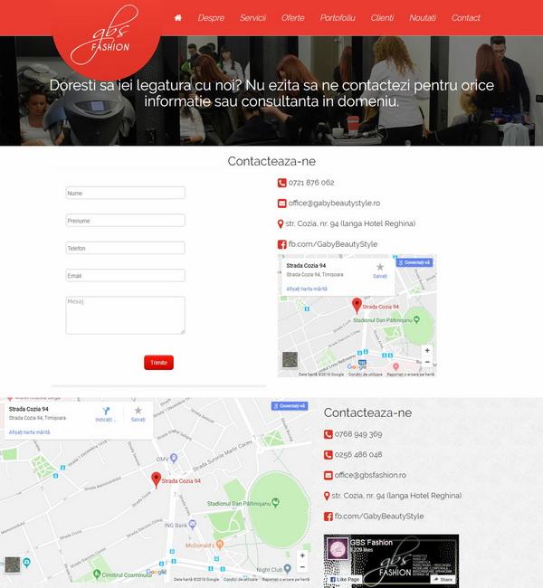 Online WEB ro - Model site prezentare realizat, site prezentare salon de frumusețe coafor frizerie Foto 4