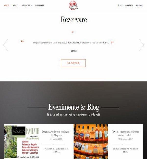 Online WEB ro - Model site prezentare realizat, site prezentare restaurant bar Foto 4